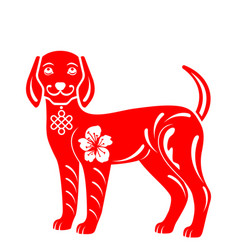 drawing abstract dog for happy chinese new year vector image