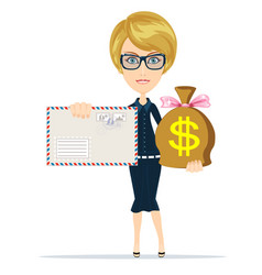 Envelope and money bag vector