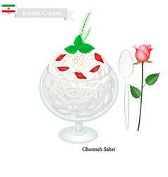 Faludeh or Iranian Rice Noodle And Rose Water vector