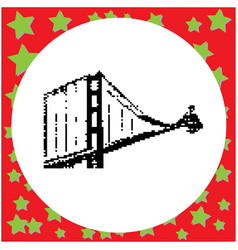 famous golden gate bridge in san francisco vector image