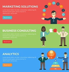 Flat design concept for marketing solutions vector