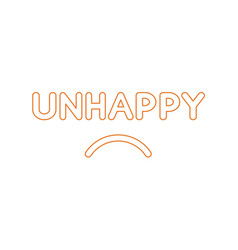 Flat design style concept of unhappy text with vector