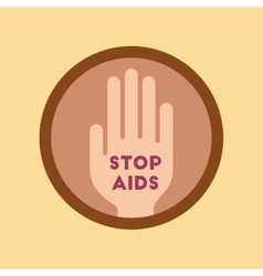 flat icon on stylish background Stop AIDS symbol vector image