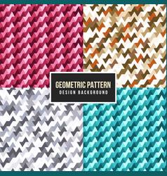 geometric colorful pattern set vector image