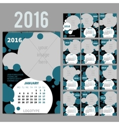 Geometrical calendar of 2016 vector image