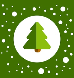 GreenChristmasTree vector image