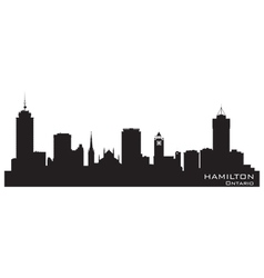 Hamilton Canada skyline Detailed silhouette vector