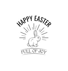 happy easter label vector image