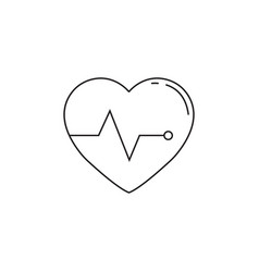 heartbeat line icon cardio graphics vector image