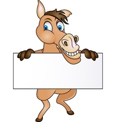 horse with blank sign vector image