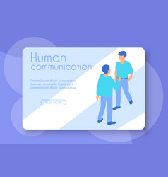 human communication as a conceptual vector image