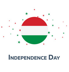 independence day of hungary patriotic banner vector image