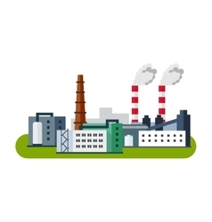 Industrial factory buildings icon Factory vector image