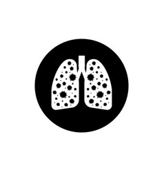 Infected lungs coronavirus icon for medical vector