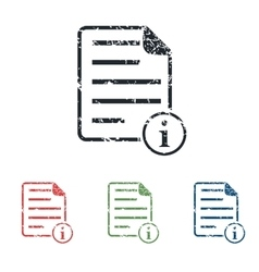 Information document grunge icon set vector