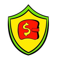 insurance money icon cartoon vector image vector image