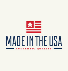 Label logo badge or sign made in usa vector