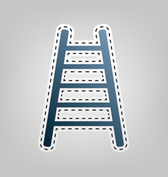 ladder sign blue icon with vector image