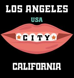 Los angeles athletics typography stamp california vector