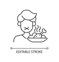Loss appetite linear icon vector