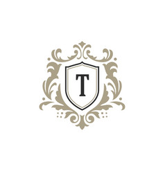 Luxury monogram logo template object vector