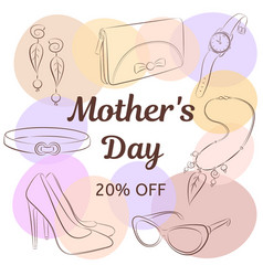 mother day sale concept hand drawing female vector image