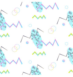 Neo memphis geometric seamless pattern vector