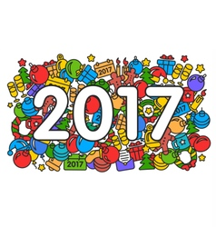 new year 2017 pattern trend vector image