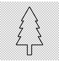 New year tree line icon vector image