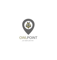 owl point logo vector image