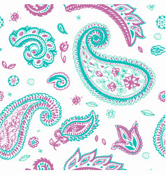 Paisley pattern of indian floral ornament vector