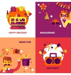 Party Design Concept Set vector image