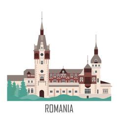 Peles castle in romania vector