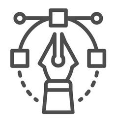 Pen tool line icon bezier vector