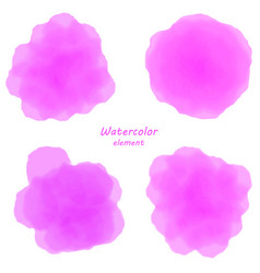Pink watercolor blotch set of pinl watercolor vector