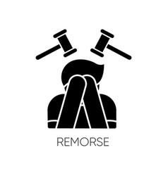 Remorse black glyph icon vector