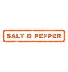 Salt Pepper Rubber Stamp vector