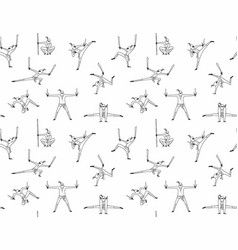seamless pattern ninja vector image