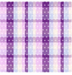 seamless plaid and polka dots background texture vector image