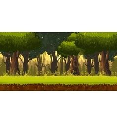 Seamless spring forest landscape never ending vector image