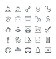 Security Cool Icons 2 vector image