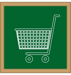 Shopping cart isolated vector image