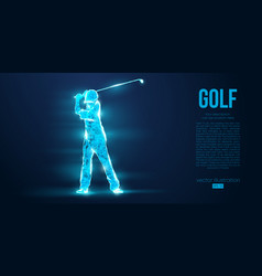 Silhouette a golf player golfer from particles vector