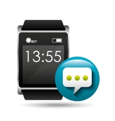Smart watch concept bubble chat social media vector