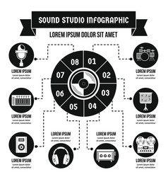 Sound studio infographic concept simple style vector