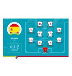 Spain line-up football 2020 tournament final vector
