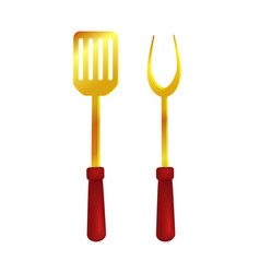 Spatula and fork tools set vector