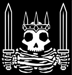 Swords medieval skeleton emblem vector