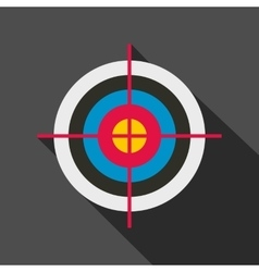 Target colored flat icon vector image