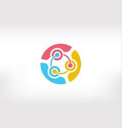 Teamwork brainstorm ideas people logo - three vector